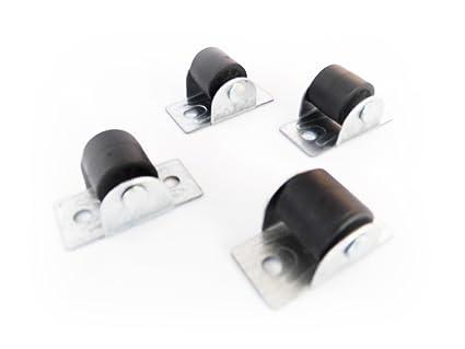4 unidades 17 mm nailon ruedas rodillo de ruedas para muebles