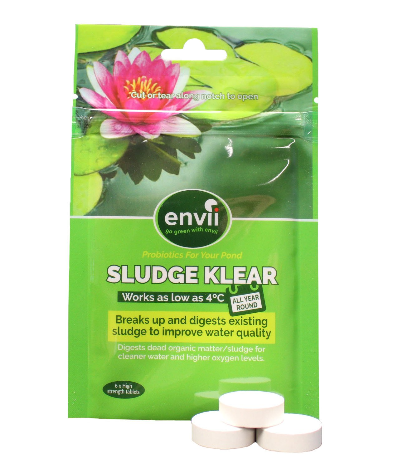 Envii Sludge Klear - Pond Sludge Treatment, Clears Murky Water & Removes Sludge Down to 40F - (Treats Up To 8,000 Gallons)