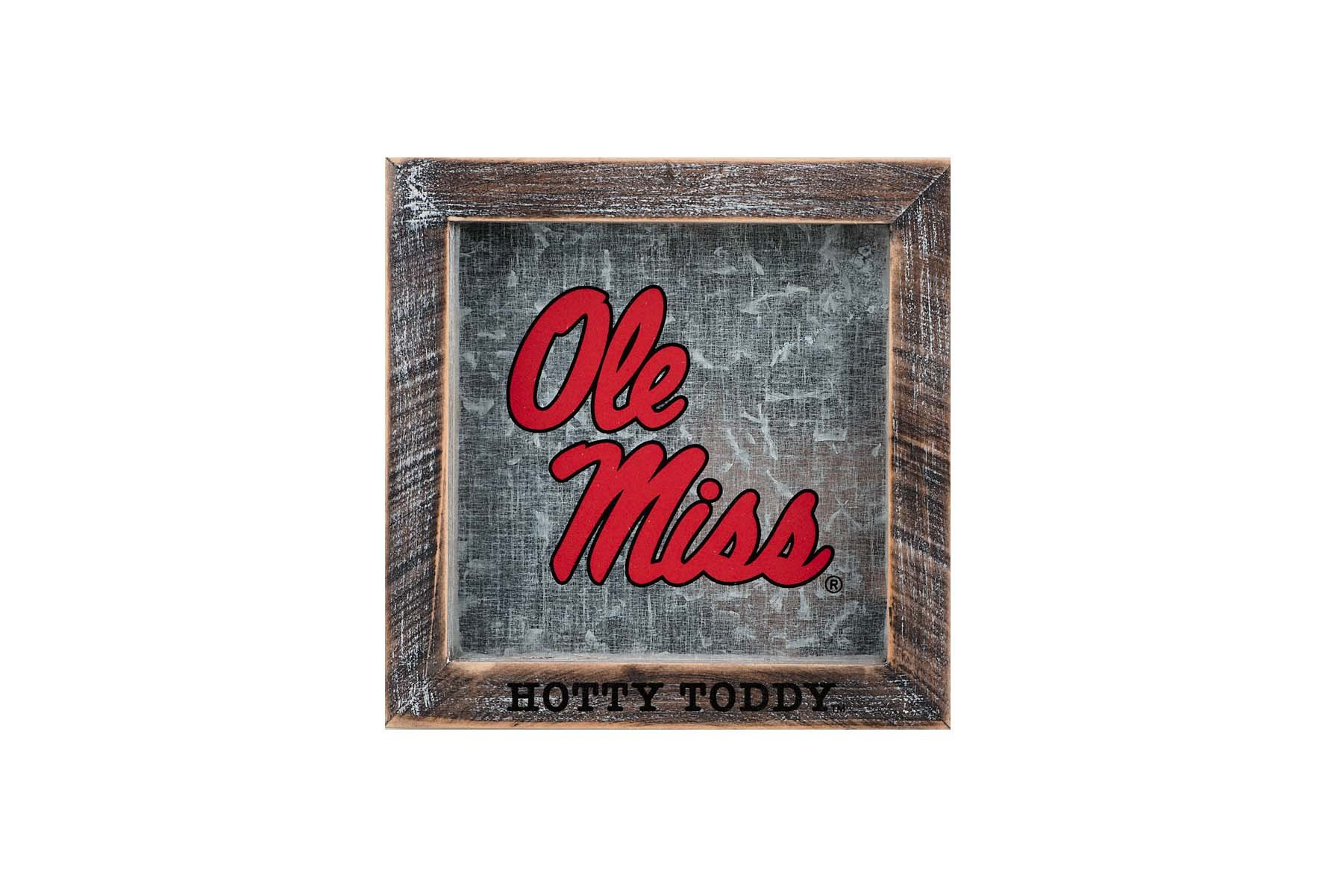 Glory Haus Ole Miss Hotty Toddy Logo Table Top, Multicolor