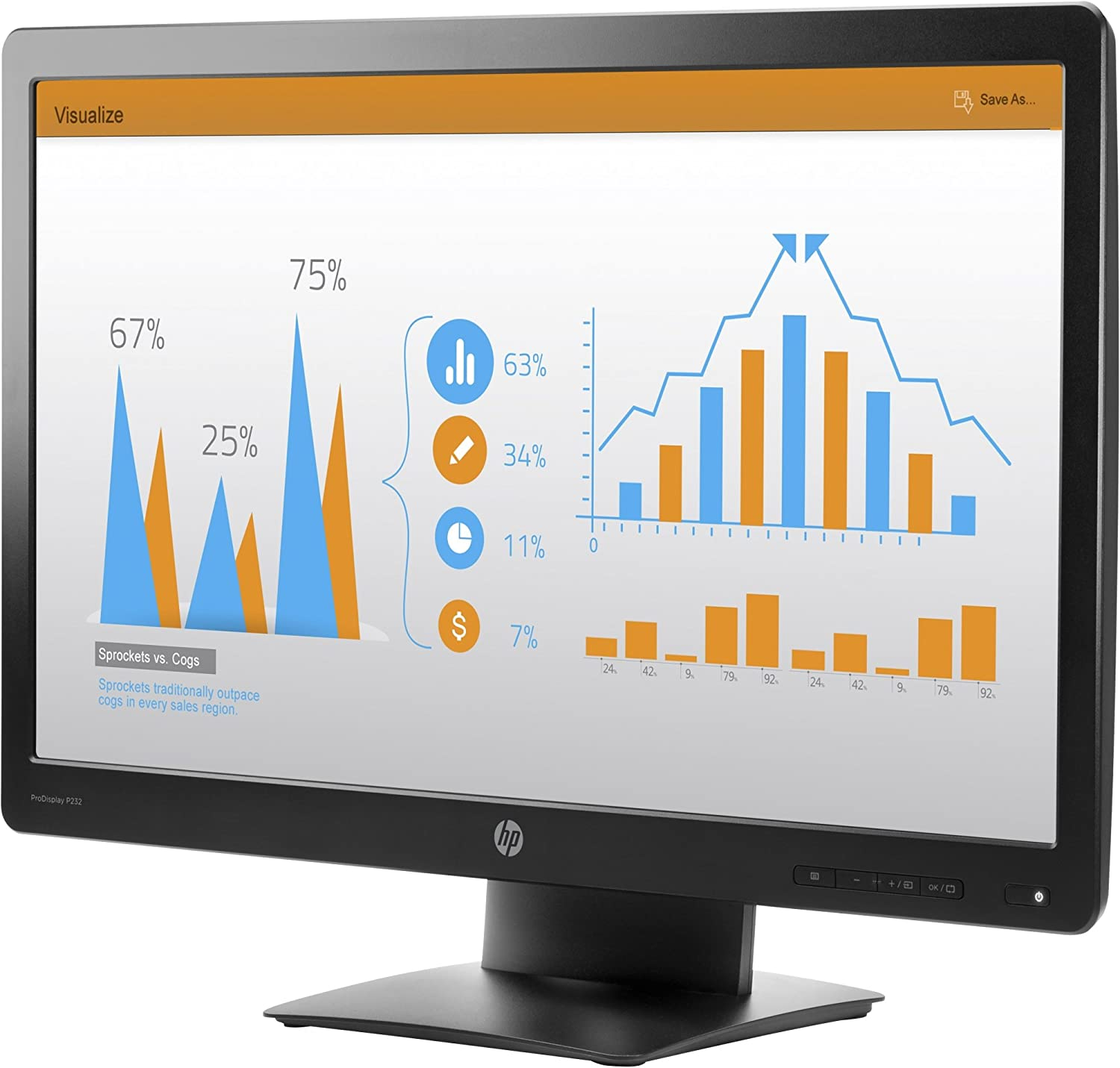"HP P232 23"" Widescreen LED Backlit ProDisplay Monitor"