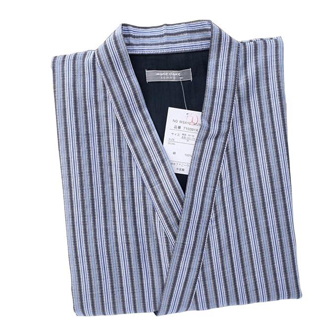 Trajes de estilo japonés de los hombres Pijamas de Kimono de algodón puro suelto Suit-