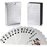 Littlechange トランプ プラスチック 防水 フレックスカード マジック 手品 カードゲーム 54枚入り 洗える ダイヤモンドシリーズ (シルバー)