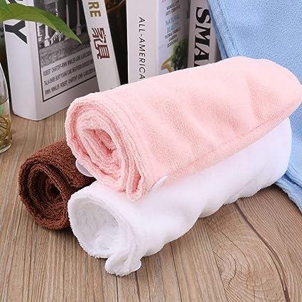 Footprintse Súper Absorbente de secado rápido de Microfibra Textil Toalla de Baño Cabello Seco Cap Salon