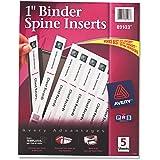 """Avery Binder Spine Insert - 1"""" - 40 / Pack - White"""