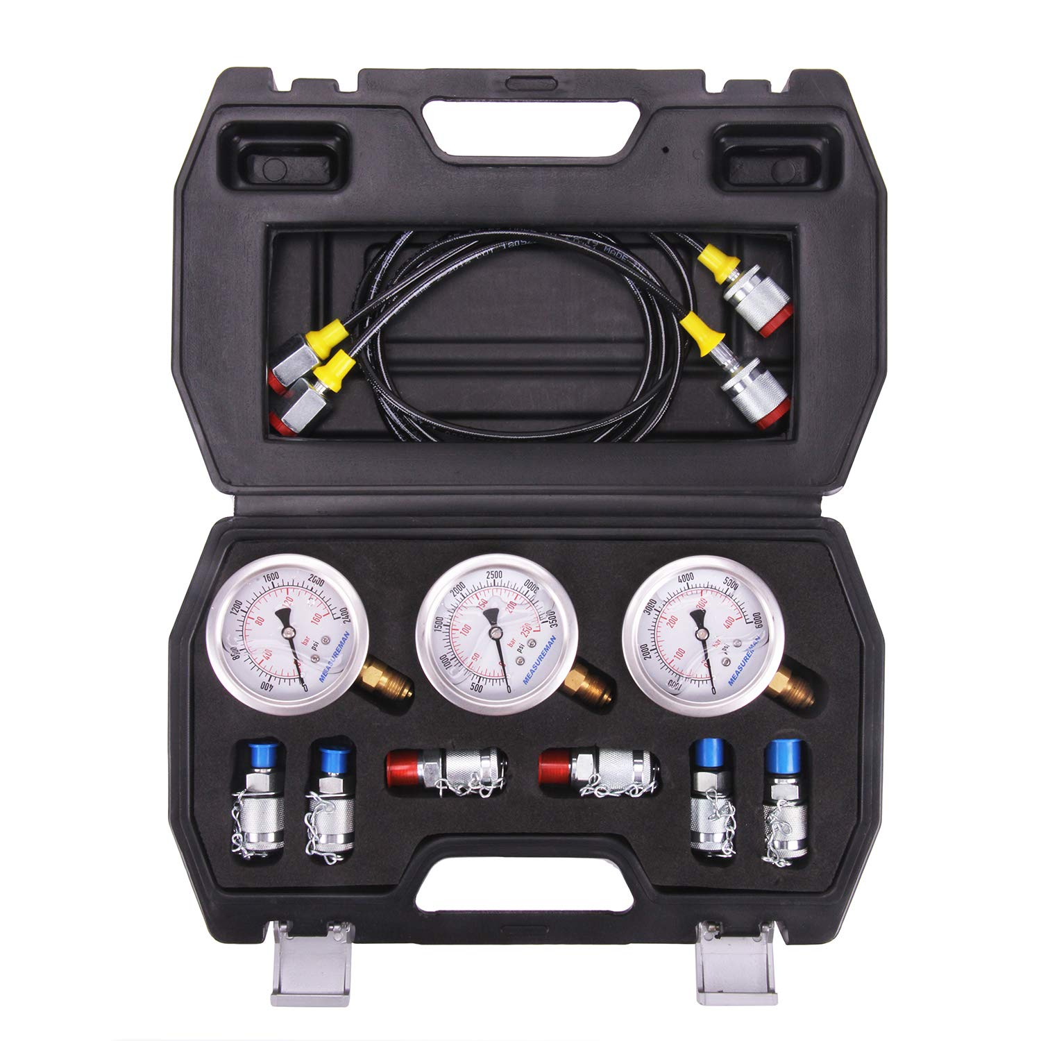 Portable Hydraulic Pressure Guage Test Coupling Kit for Excavator Construction Machinery Hydraulic Pressure Test Kit