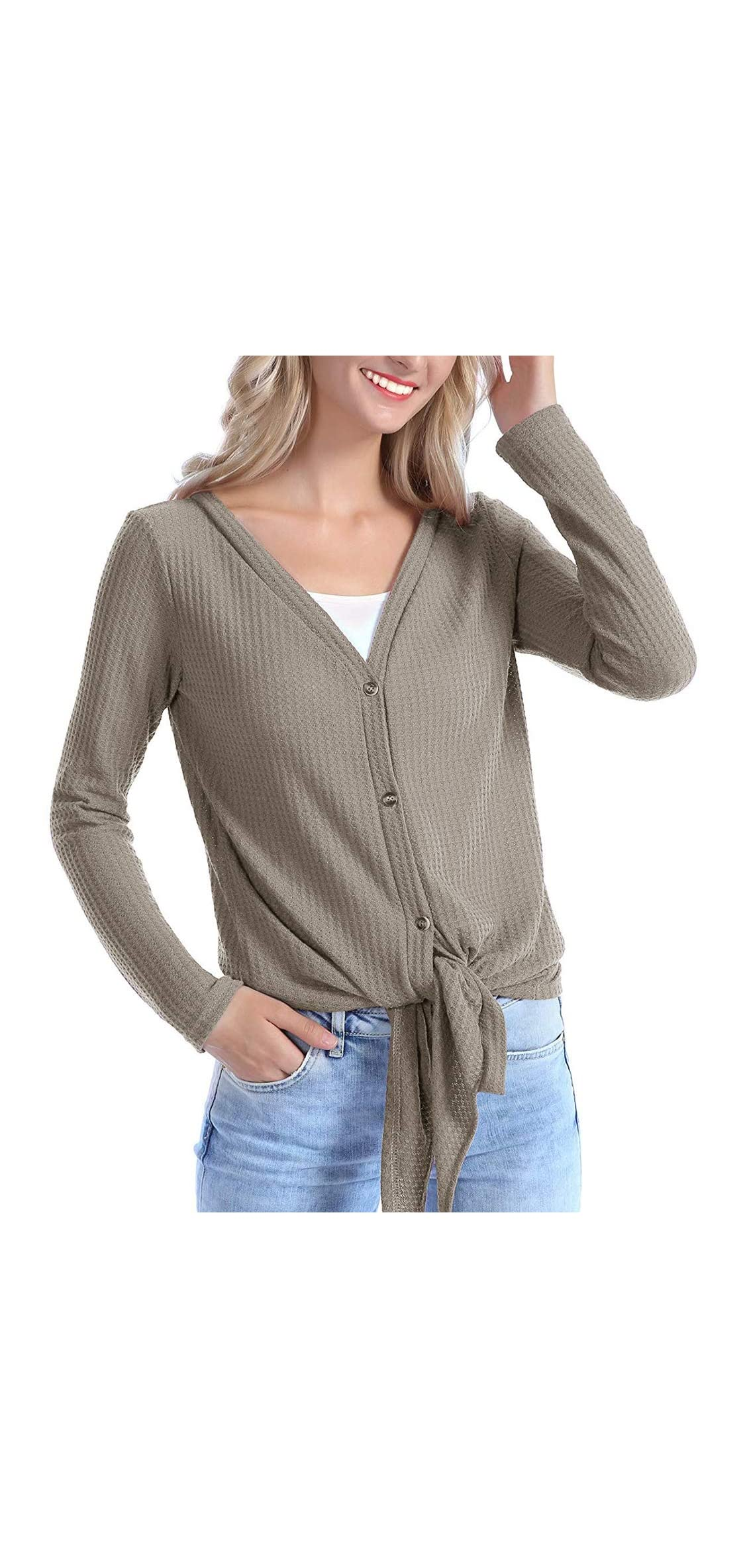 Womens Casual V Neck Tunic Lightweight Sweaters Plus