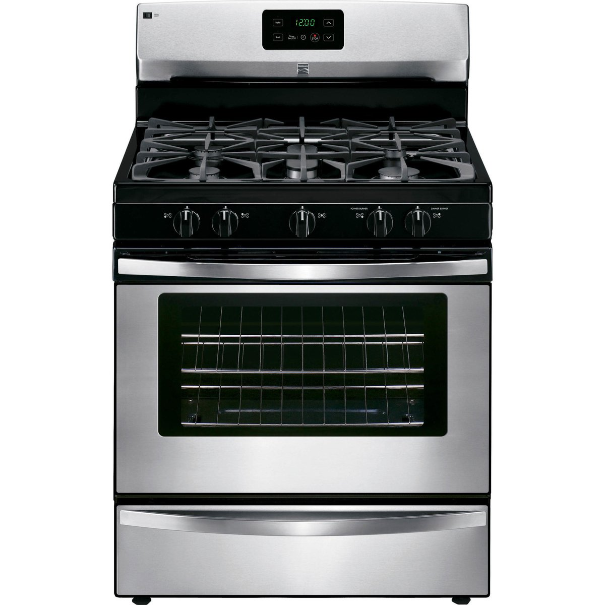 Kenmore 73433 4.2 cu. ft. Freestanding Gas Range in Stainless Steel, includes delivery and hookup (Available in select cities only) by Kenmore