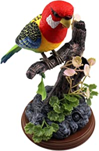 Tipmant Talking Parrots Birds Toys Electronic Animal Pets Office Home Room Decoration with Recording & Playback Function Kids Gifts (Single Bird)