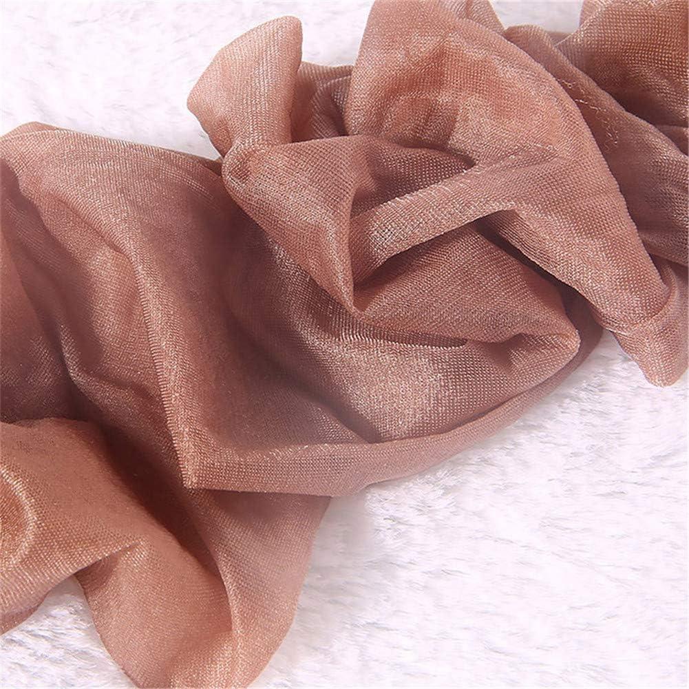 Xpuing Calze trasparenti oleose da donna Calze autoreggenti Strumpf Calze autoreggenti Gambaletto traspirante da donna 3PSC
