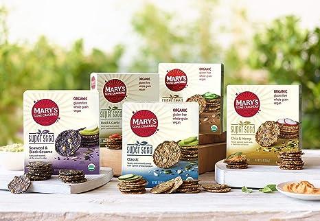 Marys Gone Crackers - galletas semilla súper orgánico - 5,5 oz.: Amazon.es: Salud y cuidado personal