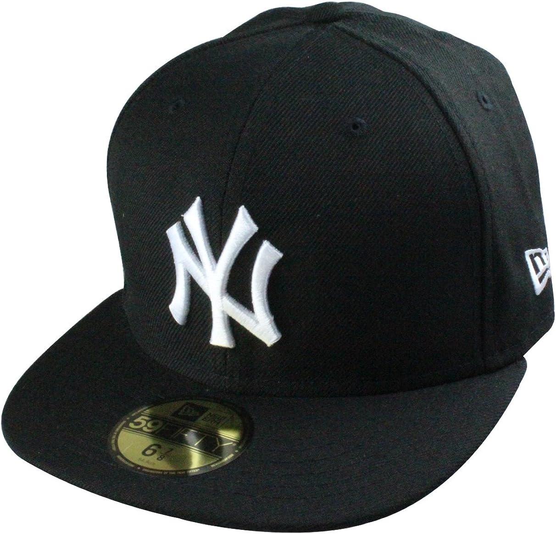 New Era Mlb 59fifty Basic Cap New York Yankees Caps In 8 Colours Size 6 7 8 To 7 5 8 Amazon Co Uk Clothing