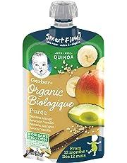 GERBER Organic PURÉE Banana Mango Avocado Vanilla Quinoa, Baby Food, Meal, 12+ Months, 90 ml, 12 Pack