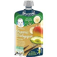 GERBER GERBER Organic Toddler Purée Banana Mango Avocado Vanilla Quinoa 90 ml Pouch (Pack of 12 Pouches), Banana Mango Avocado Vanilla Quinoa, 12 Count