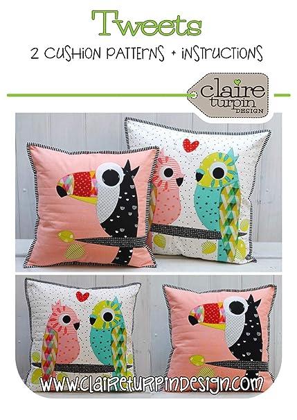 Amazoncom Tweet Bird Applique Cushion Pillow Pattern By Claire