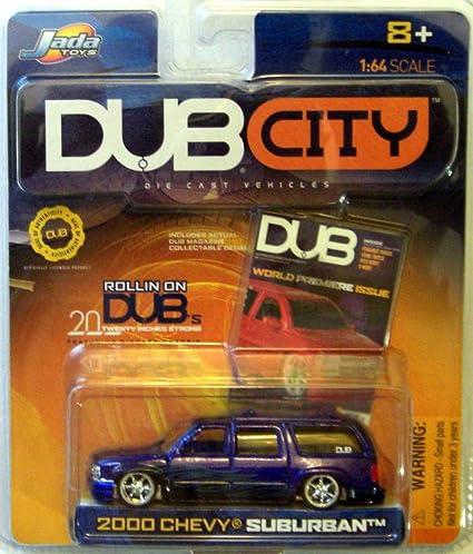 Amazon.com: Dub City 2000 Chevy Suburban PURPLE 1:64: Toys & Games