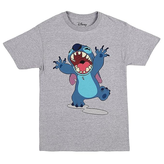 Camiseta Hombre Lilo & Stitch Disney Ohana Elven Forest Algodón Azul texA1CO6C