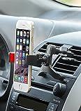 Brainwizz Vent® - Support Téléphone Voiture Portable Smartphone Universel - Fixation sur Grille d'Aération / Ventilation - Rotation à 360° - pour tous les iPhone, portables et smartphones