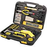 DOWELL Homeowner Tool Set 136 Pieces General Household Hand Tool Kit with Plastic Tool box Storage Case