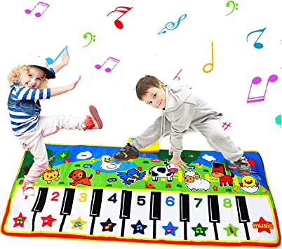 Tapete para Piano tamaño más Grande (53 * 23 Pulgadas) Juguete para niños con Teclado y Teclado para Piano, Divertido tapete de Baile para bebés Niños ...