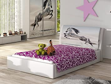 Kinderbett Sunny Weiß 100 X 200 cm Bett Mädchen Kinder inkl ...