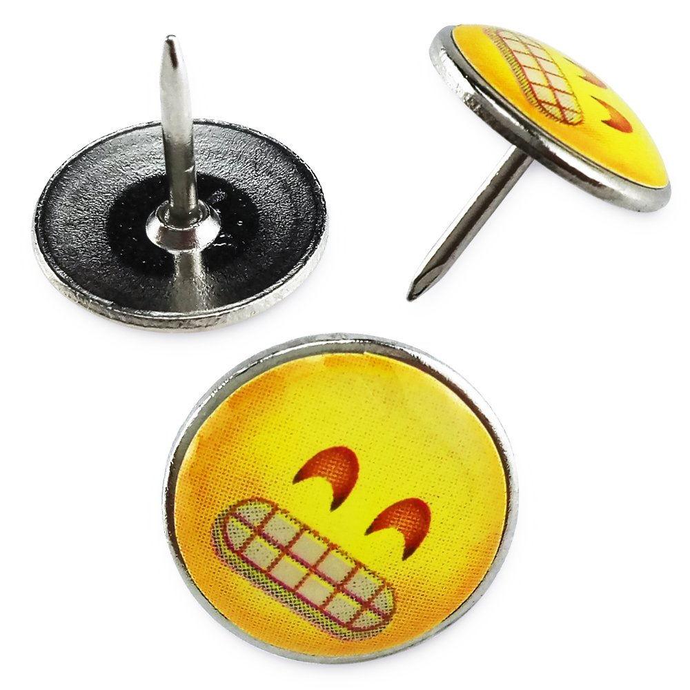 Corkboard Fyess 70Pcs Smiley Face Emoticon Push Pins Photo Wall Holding Paper or Decoration Decorative Push Pins,Creative Thumbtacks Drawing Pin For Home or Office Whiteboard