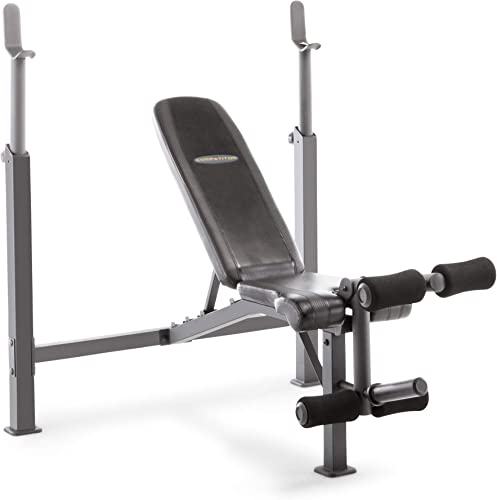 Marcy Competitor Adjustable Olympic Weight Bench with Leg Developer for Weight Lifting and Strength Training