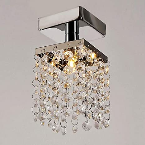 2c4b5f14b81 Image Unavailable. Image not available for. Color  Modern Home Living Room  Crystal Chandelier Lamp Stainless Steel Pendant ...