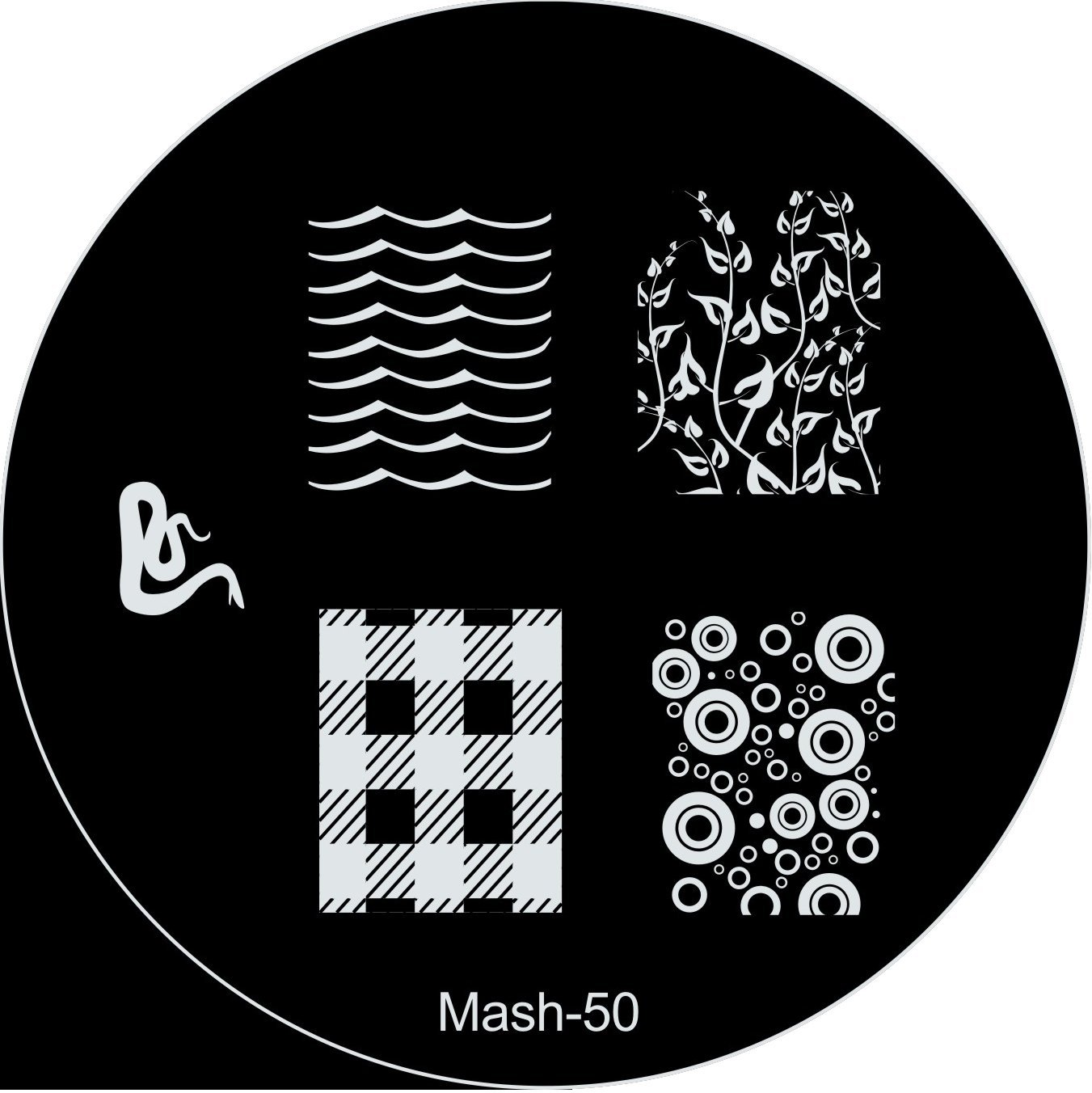 Amazon.com : MASH Nail Art Stamp Stamping Image Plate No 50 : Nail ...
