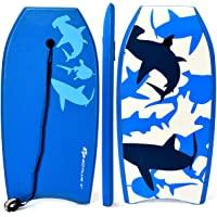 Goplus Body Board, Lightweight Bodyboard with EPS Core, XPE Deck, HDPE Slick Bottom, Premium Leash & Adjustable Wrist…