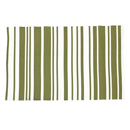Forma de rectángulo de calor antideslizante resistente Pad Mat Pan blanco verde
