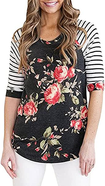 feiXIANG Manga raglán Mujer Camiseta asimétrica Bolsillo de la Camisa Camiseta Camisa Chaqueta otoño e Invierno Estilo cálido Chica de al Lado: Amazon.es: Ropa y accesorios