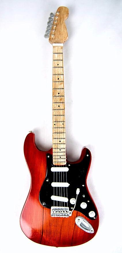 Guitarra decorativa en miniatura (24 cm), color negro #208 ...