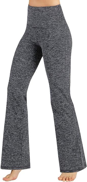 Amazon Com Ododos Pantalones De Yoga Para Mujer Con Corte De Bota Para Control De Pancita Entrenamiento No Translucidos Clothing