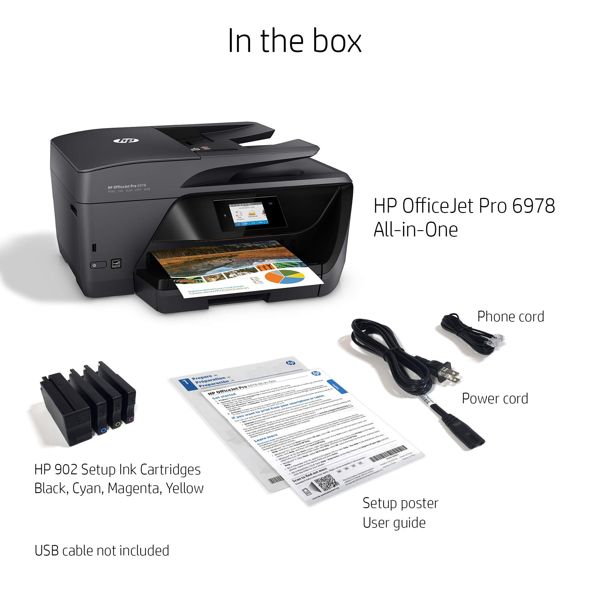 HP OfficeJet Pro 6978 All-in-One Wireless Printer with Mobile Printing, HP Instant Ink & Amazon Dash Replenishment Ready (T0F29A) (Renewed) by HP (Image #4)