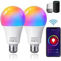 Bombilla LED Inteligente WiFi, AISIRER 10W 1000LM E27 Lámpara, WiFi Bombilla Luces Cálidas/Frías & RGB Funciona con…