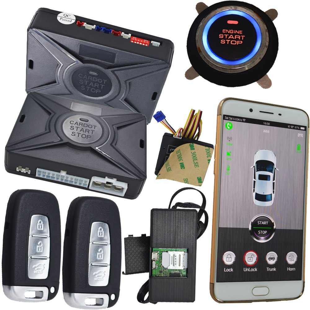 Security Car Alarm Passwords Key Pad Phone Car Starter Stop Engine Auto Online Gps Tracking System