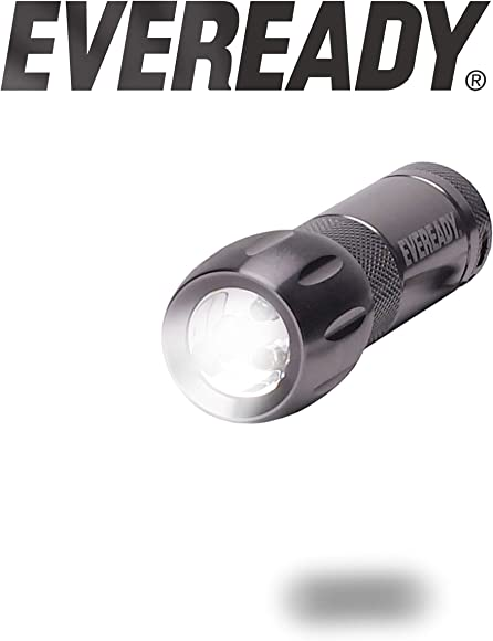 WITH BATTERIES Metal Eveready LED Pocket light Compact Flashlight Bright White