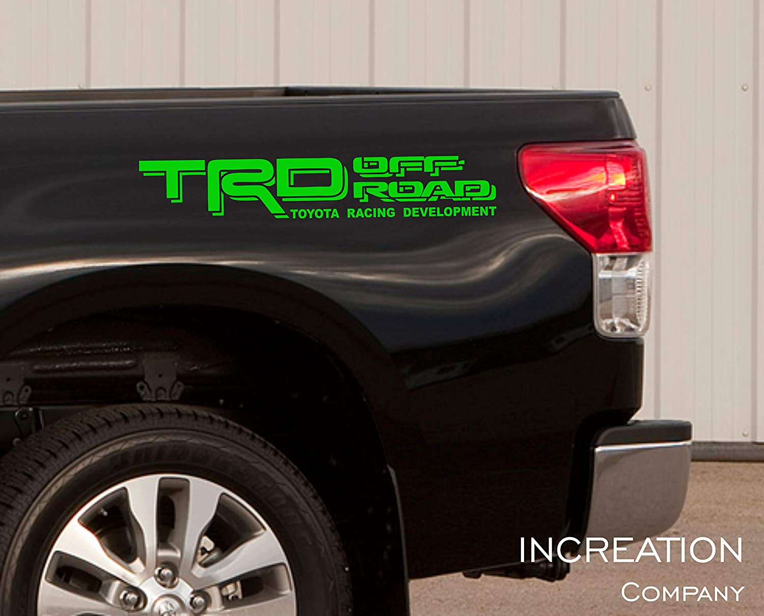 Increation company toyota tundra tacoma truck body side bed decal x2 silver vinyl stickers trd off road 4x4 custom auto graphics racing development