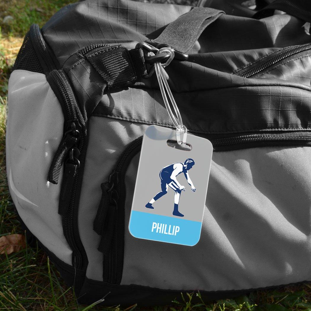 ORANGE Standard Lines on Back Wrestling Luggage /& Bag Tag MEDIUM Personalized Wrestler