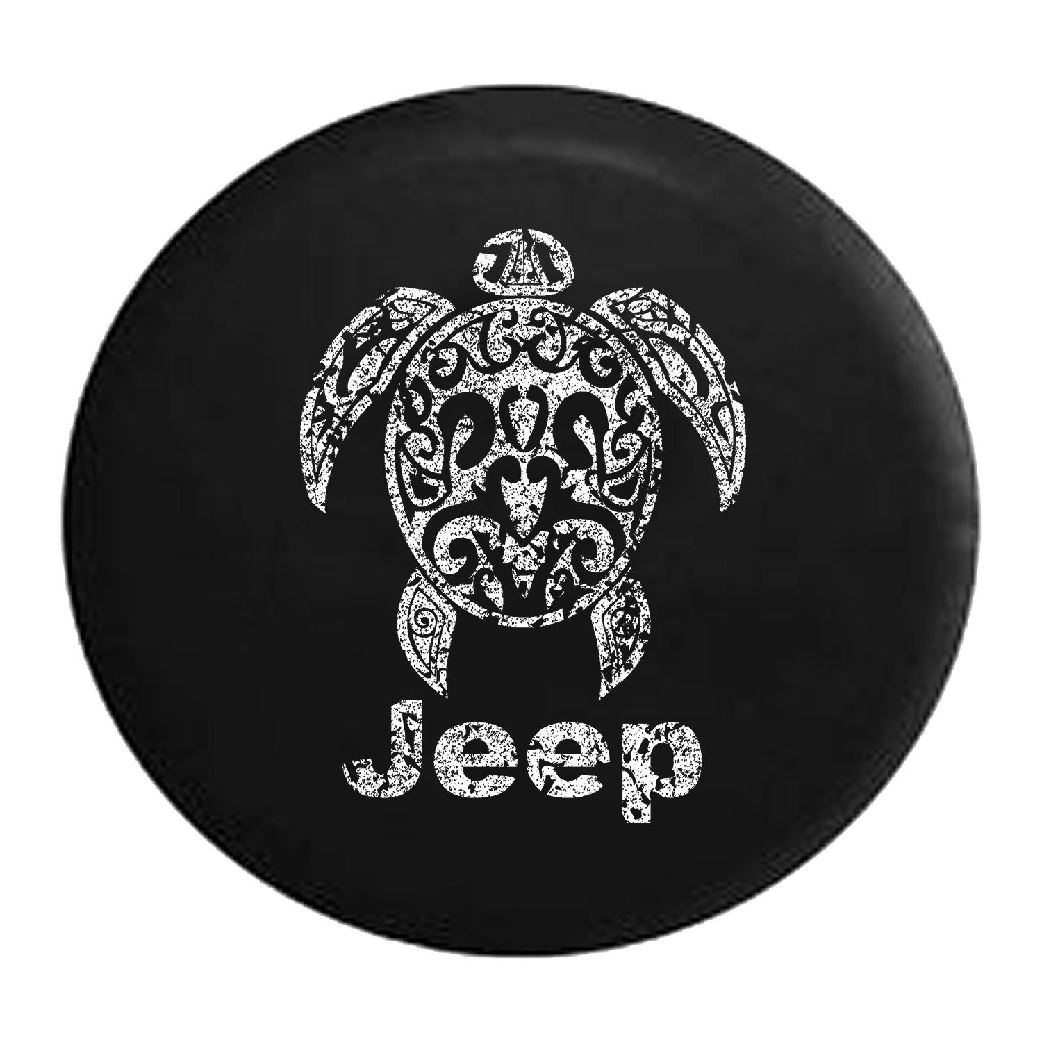 Jeep Sea Turtle Diving Beach Marine Life Spare Tire Cover 32 Inch Distressed