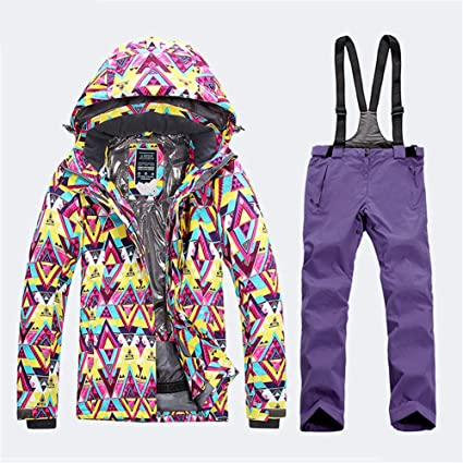 68fefdbb47 Amazon.com   Gski Women s Ski Jacket with Pants Windproof