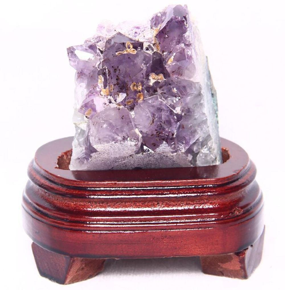 about 0.5 kg racimo de piedra de limpieza desmagnetizaci/ón decoraci/ón original de amatista natural pura escritorio radiaci/ón