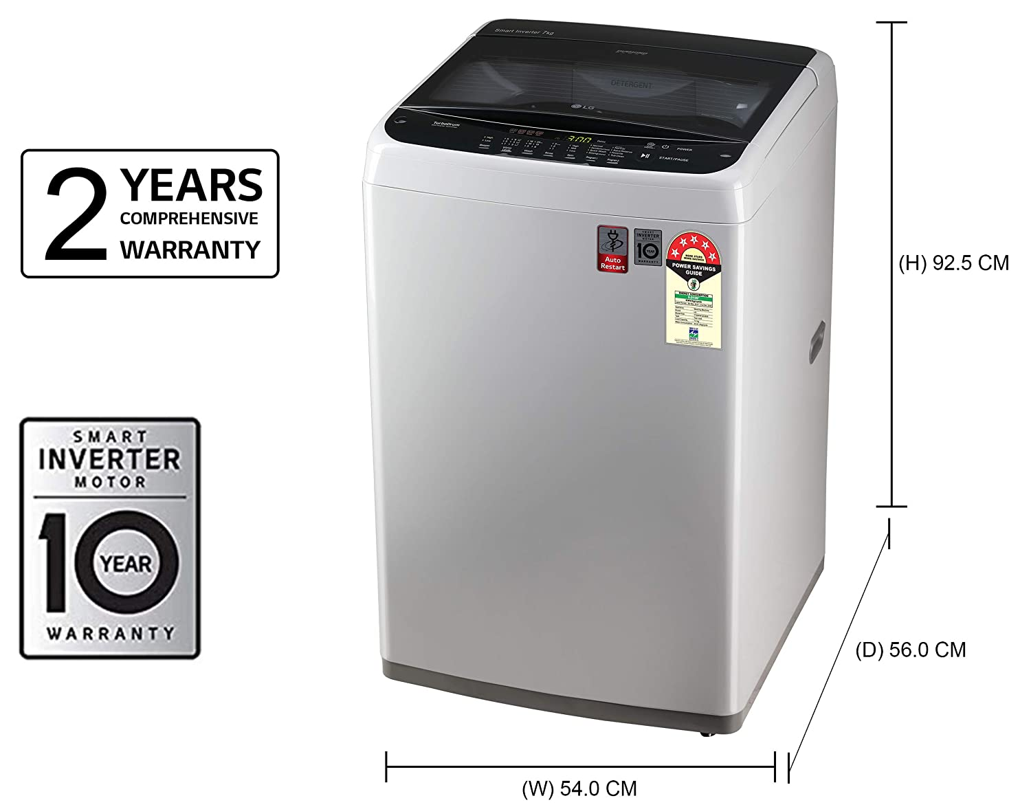 LG 7 kg Inverter Fully-Automatic Top Loading Washing Machine