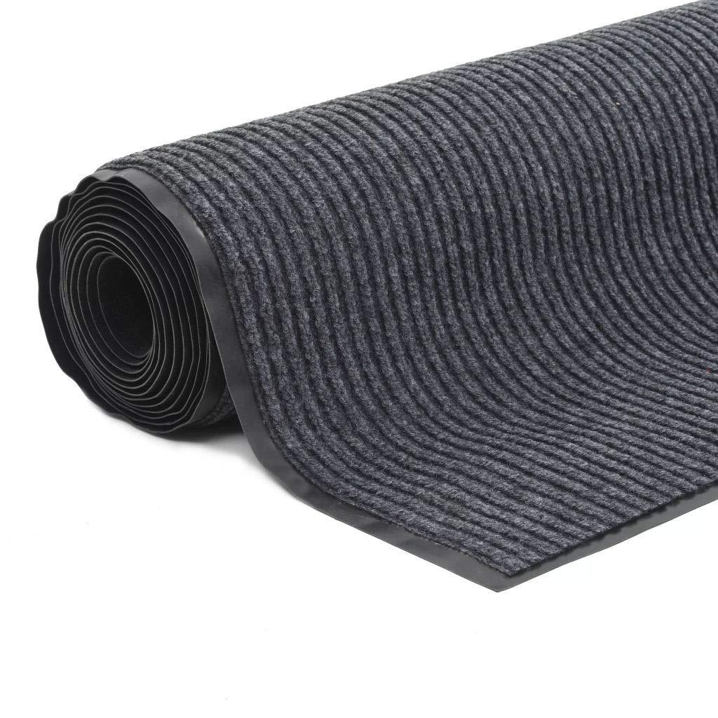 Festnight Bodenmatte Rutschfeste Fußmatte mit Vinyl-Unterseite 1,2 1,2 1,2 x 5 m Grau ea42bd