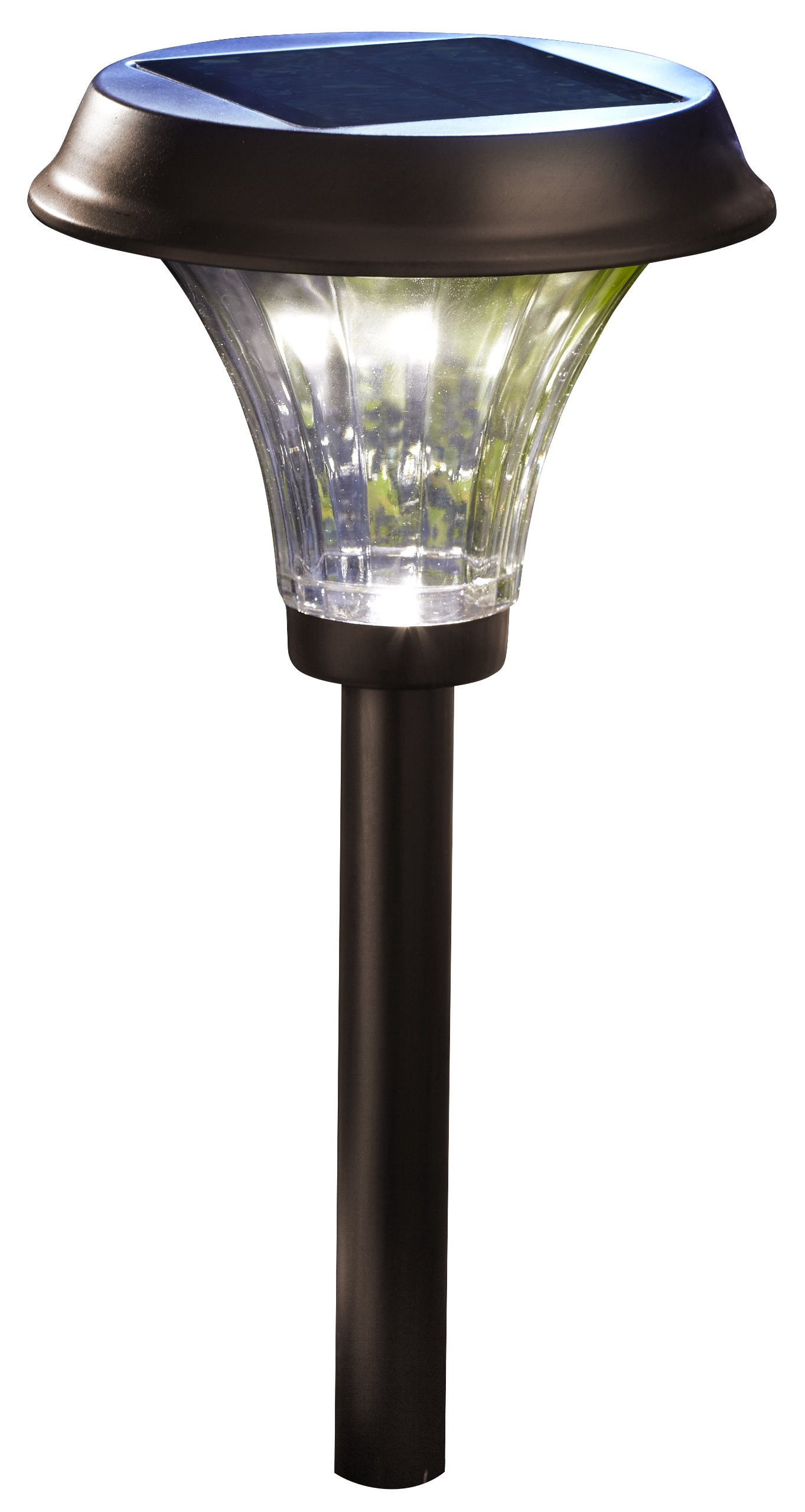 Moonrays 91754 Richmond Solar LED Metal Path Light, Rubbed Bronze (Pack of 2)