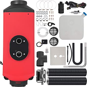 Bestauto 2KW Diesel Heater Muffler Diesel Fuel Heater 12V Diesel Air Heater Remote Control with LCD Switch for Car Trucks Motor-Home Boat Bus CAN