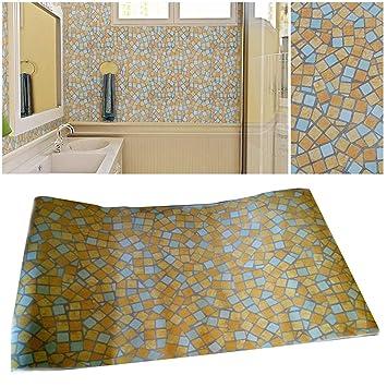 45 cm x 500 cm Wasserdichte Badezimmer Mosaik Fliesen Vinyl PVC ...
