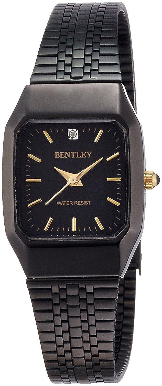 Bentley - Reloj la posición 12 o clock 1P diamante cinturón de acero inoxidable de la mujer relojes bcc-3093-bbk negro hombres: Amazon.es: Relojes