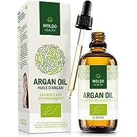 Bio-Arganöl kaltgepresst für Haare Haut Gesicht - biologisches Serum 100% aus Marokko Gesichtspflege & Körperöl, Laborgeprüft mit Prüfbericht