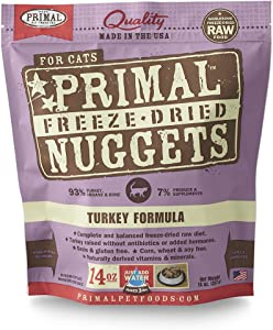 Primal Pet Foods Freeze-Dried Feline Turkey Formula, 14 Oz